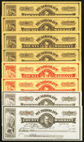 Obsoletes By State:Nevada, Winnemucca, NV- Humboldt County Warrants Various Amounts 1917-20 Eight Examples . ... (Total: 8 items)