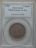 Colonials, 1783 COPPER Washington Draped Bust, No Buttons XF40 PCGS. PCGS Population (19/76). NGC Census: (8/24)....