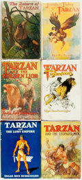 Books:Science Fiction & Fantasy, Edgar Rice Burroughs. Group of Six Titles. New York: Grosset & Dunlap, [various dates].... (Total: 6 Items)