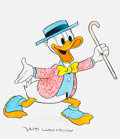 Animation Art:Production Drawing, William Van Horn - Donald Duck Illustration Original Art (c.1990s)....