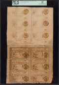 Colonial Notes:Georgia, Georgia 1776 $1-$1-$1-$1-$1-$1-$1-$1-$1-$1-$1-$1 Uncut Sheet ofTwelve PCGS Apparent Very Fine 35.. ...