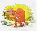Animation Art:Production Drawing, Richard Trebus - Tantor from Tarzan Illustration OriginalArt (1999)....