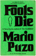 Books:Mystery & Detective Fiction, Mario Puzo. UNCORRECTED PROOF. Fools Die. New York: G. P.Putnam's Sons, [1978]....