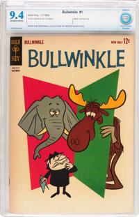 Bullwinkle #1 (Gold Key, 1962) CBCS NM 9.4 Off-white to white pages