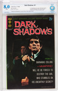 Silver Age (1956-1969):Horror, Dark Shadows #1 (Gold Key, 1969) CBCS VF 8.0 White pages....