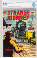 Silver Age (1956-1969):Horror, Strange Journey #1 (Ajax/Farrell, 1957) CBCS VF 8.0 Off-white towhite pages....