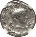 Ancients:Roman Imperial, Ancients: Gaius Caesar (20 BC-AD 4). AR denarius (18mm, 3.75 gm,5h). ...