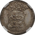 Netherlands East Indies, Netherlands East Indies: Westfriesland silver Duit 1731 MS63NGC,...