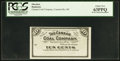 Obsoletes By State:Ohio, Canaanville, OH- The Canaan Coal Company 10¢ ND Remainder Wolka0264-02. ...