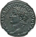 Ancients:Roman Imperial, Ancients: Tiberius (AD 14-37). Æ as (10.73 gm)....