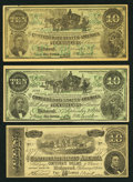 Confederate Notes:Group Lots, Trio of Confederate Facsimile Advertising Notes from Wisconsin. ...(Total: 3 notes)