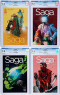 Modern Age (1980-Present):Science Fiction, Saga #2-7 CGC-Graded Group (Image, 2012) CGC NM/MT 9.8 Whitepages.... (Total: 6 Comic Books)