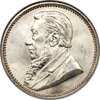South Africa: Republic 6 Pence 1892 MS64 NGC