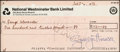 Music Memorabilia:Autographs and Signed Items, Beatles - George Harrison Signed Apple Publishing Limited Check in Matted Display (London, July 3, 1973). ...