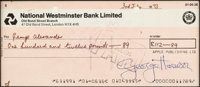 Beatles - George Harrison Signed Apple Publishing Limited Check in Matted Display (London, July 3, 1973)