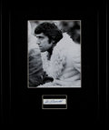Football Collectibles:Others, Joe Namath Signed Cut Signature Display....