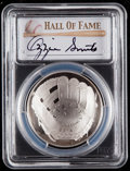 Baseball Collectibles:Others, 2014 Ozzie Smith Signed Baseball Hall of Fame Silver Dollar PCGSPR70DCAM Coin. ...