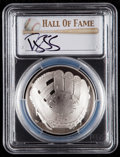 Baseball Collectibles:Hats, 2014 Darryl Strawberry Signed Baseball Hall of Fame Silver Dollar PCGS PR70DCAM Coin....