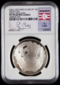 Baseball Collectibles:Others, 2014-P $1 Baseball Hall of Fame Silver Dollar, Class of '36, EarlyReleases, Ty Cobb Signature PF70 Ultra Cameo NGC. ...