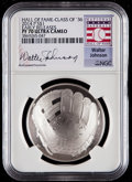 Baseball Collectibles:Others, 2014-P $1 Baseball Hall of Fame Silver Dollar, Class of '36, EarlyReleases, Walter Johnson Signature PF70 Ultra Cameo NGC. ...