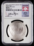 Baseball Collectibles:Others, 2014-P $1 Baseball Hall of Fame Silver Dollar, Class of '36, EarlyReleases, Honus Wagner Signature MS70 NGC. ...