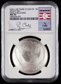 Baseball Collectibles:Others, 2014-P $1 Baseball Hall of Fame Silver Dollar, Class of '36, EarlyReleases, Ty Cobb Signature MS70 NGC. ...