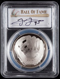 Baseball Collectibles:Others, 2014 Frank Thomas Signed Baseball Hall of Fame Silver Dollar PCGSPR70DCAM Coin. ...