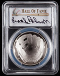 Baseball Collectibles:Others, 2014 Brooks Robinson Signed Baseball Hall of Fame Silver DollarPCGS PR70DCAM Coin. ...