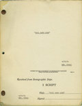 "Movie/TV Memorabilia:Memorabilia, ""Cool Hand Luke"" Script. A revised final draft copy of the script,dated September 29, 1966, in Very Fine condition with a ..."
