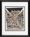"Movie/TV Memorabilia:Original Art, Charles Fazzino ""Crazy for Broadway"" 3-D Artwork. This 3-D lithograph by Pop artist Charles Fazzino is #303 from a limited e..."