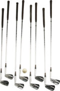 Movie/TV Memorabilia:Memorabilia, Bob Hope Golf Clubs and Frank Sinatra Golf Ball. This set ofMacGregor irons were personally owned and used by Bob Hope. Th...