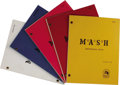 """Movie/TV Memorabilia:Documents, """"M*A*S*H"""" Scripts. This set of five scripts includes final draftsof """"Depressing News"""" (dated November 21, 1980), """"The Life..."""