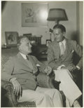 """Movie/TV Memorabilia:Photos, Frank and Ralph Morgan Photo. An 11"""" x 14"""" 1932 publicity portraitof the Morgan brothers, Frank and Ralph, each settled in ..."""