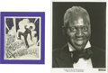 "Movie/TV Memorabilia:Memorabilia, Bill Robinson Photo and Christmas Cards. A collection of items fromBill ""Bojangles"" Robinson, the tap-dance pioneer best re..."