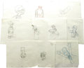 "Movie/TV Memorabilia:Memorabilia, Simpsons Group of Production Sketches. A set of tenpencil-and-paper production sketches from various ""Simpsons""episodes. I..."