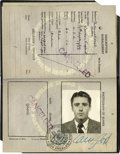 "Movie/TV Memorabilia:Autographs and Signed Items, Peter Lawford Passport. He was known as ""the man who kept thesecrets,"" be they for the ""Rat Pack,"" Marilyn Monroe or the Ke..."