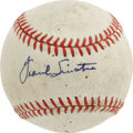 Movie/TV Memorabilia:Autographs and Signed Items, Frank Sinatra and Cary Grant Signed Baseball. From the personalcollection of Major League umpire David M. Pallone, who obt...
