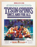 Music Memorabilia:Posters, Leroy Neiman' Designed Tyson Vs. Spinks Poster Signed to FrankSinatra. One of the most notable fights in Mike Tyson's cont...