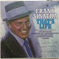 "Music Memorabilia:Autographs and Signed Items, Frank Sinatra Autographed ""That's Life"" LP. Following the hugesuccess of ""Strangers in the Night,"" Sinatra's 1966 release ..."