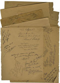Movie/TV Memorabilia:Autographs and Signed Items, Group of Celebrity Signed Album Pages. From an autograph albummaintained by Thyra Varrick, a hostess at one of the Will Wri...
