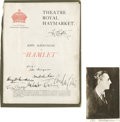 Movie/TV Memorabilia:Autographs and Signed Items, John Barrymore Autograph Lot. Often regarded as the greatest actorof his generation, John Barrymore was lauded for his skil...
