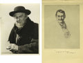 Movie/TV Memorabilia:Autographs and Signed Items, Lionel Barrymore Signed Etching of Himself in Grand Hotel andClarence Bull Portrait of Barrymore in David Copperfield. Lion...(Total: 2 Items)