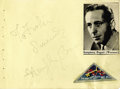 Movie/TV Memorabilia:Autographs and Signed Items, Humphrey Bogart Signed Album Page. Humphrey Bogart's is one of therarest and most sought-after Hollywood autographs. Bogey...