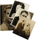 "Movie/TV Memorabilia:Autographs and Signed Items, Early Hollywood Actors Signed Photos. Includes 8"" x 10"" b&wphotos signed by vaudeville and silent movie actor Elliot Dexte..."