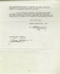 Movie/TV Memorabilia:Documents Signed, Gary Cooper Signed Contract. Four-page contract with Samuel Goldwyn, Ltd., dated June 7, 1937 signed by Cooper in black ink ...