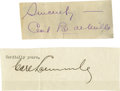 Movie/TV Memorabilia:Autographs and Signed Items, Cecil B. de Mille and Carl Laemmle Signatures. Here is a set of cutsignatures from two of the most influential people of th... (Total:2 )