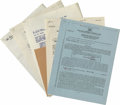 Movie/TV Memorabilia:Autographs and Signed Items, Hollywood Signed Contracts Group. Set of five assorted signedcontracts includes one each for Douglas Fairbanks Jr. (dated A...