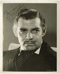 "Movie/TV Memorabilia:Autographs and Signed Items, Clark Gable Signed Photo. This 8"" x 10"" b&w photo of Gable asRhett Butler in ""Gone With the Wind"" is inscribed ""To Maria L..."