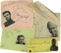Movie/TV Memorabilia:Autographs and Signed Items, Adventure Movie Actors. Nice lot of album page signatures of fivefine actors who won distinction in adventurous Hollywood f...(Total: 5 )