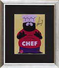 "Movie/TV Memorabilia:Autographs and Signed Items, Isaac Hayes Signed South Park Photo. Isaac Hayes' performance as""Chef"" on the TV series ""South Park"" was supposed to be a ..."